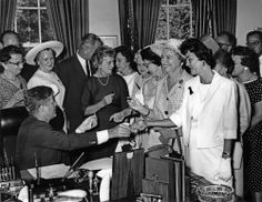 Today in history, President Kennedy signed the 1963 Equal Pay Act, which aimed to reduce income disparity between the sexes. 6/10/63.