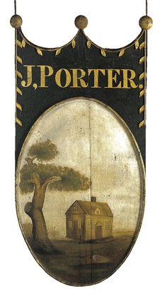 Sign for Porter's Inn, c. 1820-25