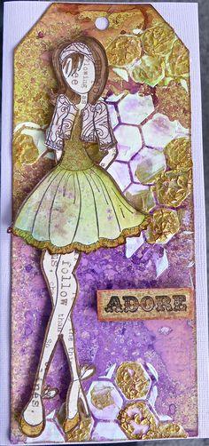 Julie Nutting art doll stamp