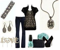Black lace beauty.