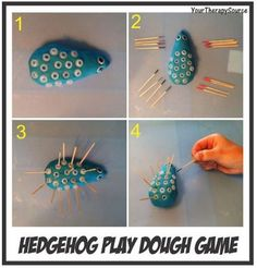 OT Activity of the Week: Hedgehog Play Dough Game - Pinned by @PediaStaff – Please Visit ht.ly/63sNtfor all our pediatric therapy pins