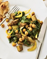 Curried Eggplant with Chickpeas and Spinach Recipe on Food & Wine
