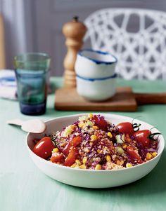 Corn-#Quinoa Salad Recipe | Vegetarian Times #quinoa #shawneetarts