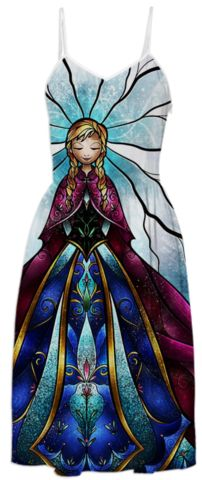 Anna from Disney Frozen The Little Sister Summer Dress created by mandiemanzano | Print All Over Me