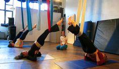 Unnata® Aerial Yoga | Traditional Yoga on a Fabric Trapeze |