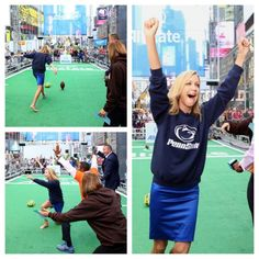 Thx to @fredleee the @gma  photog who caught this true moment of #PennStatePride  #barefootfieldgoal  #whoneedscleats