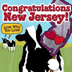 A great big congratulations to New Jersey for supporting marriage equality! We're another step closer to everyone having the right to love who they love.