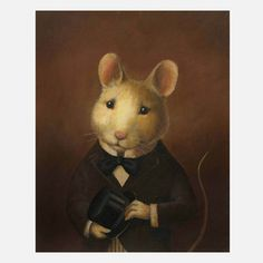 Victorian Mouse Portrait now featured on Fab.
