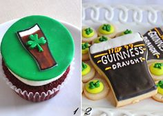 St. Patrick's Day Guinness cookies & cupcakes