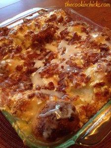 Apple Cinnamon Cream Cheese Bake! Tastes just like a slice of apple pie!