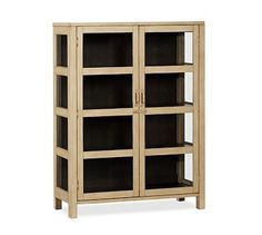 Dylan Glass Cabinet #potterybarn