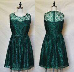 PROVENCE Emerald  Emerald green lace dress sweetheart by mfandj