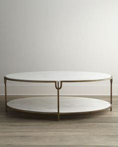 """""""Olivia"""" Marble-Top Coffee Table by Global Views at Horchow."""