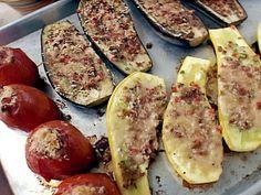 Eggplant, Yellow Squash and Tomato Casino