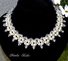 Free pattern for necklace Crystals and Pearls | Beads Magic  1 of 2  see pic tutorial