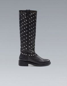 STUDDED FLAT BOOT - ZARA Czech Republic