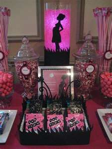 candy station at baby shower. CUTE!