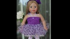 "American Girl Doll Ballet Dancers will LOVE this 18"" Doll Ballet Fashion Video. Visit this American Girl Doll Fashion Collection at http://www.harmonyclubdolls.com"