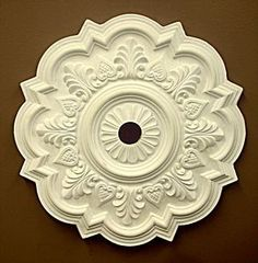 VICTORIAN REPRODUCTION PLASTER CEILING MEDALION. like to paint the colors of the walls to contrast :)