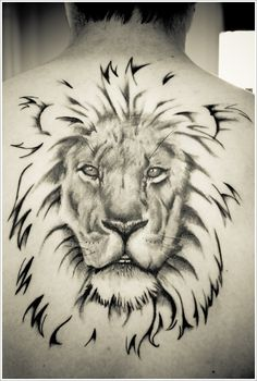 Tribal Lion Tattoo Repin & Follow my pins for a FOLLOWBACK!