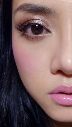eyes: MAC sable w/ Nuovi Moonstone  cheeks:  MAC Full of Joy w/ Peony Petal  Lips:  Revlon Pink Pout Matte lipstick w/ Colorburst lipgloss in Crystal lilac