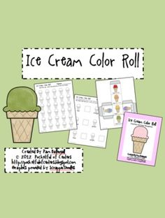 Ice Cream Color Roll Game {FREE}