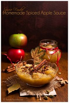 Homemade Spiced Apple Sauce Recipe