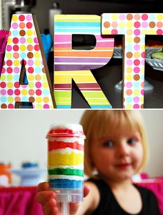 Good ideas for art party.