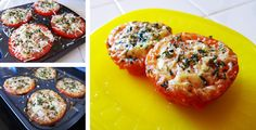 Baked Parmesan Tomatoes                                 * 4 tomatoes, halved horizontally     * 1/4 cup Parmesan cheese     * 1 teaspoon chopped fresh oregano     * 1 teaspoon garlic powder     * 1/4 teaspoon salt     * Freshly ground pepper, to taste     * 4 teaspoons extra-virgin olive oil  Preparation     1. Preheat oven to 450° F.    2. Place tomatoes cut-side up on a baking sheet. Top with Parmesan, oregano, salt and pepper. Drizzle with oil and bake until the tomatoes are tender, about 15 minutes.  ~ 62 calories per half tomato.