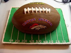 Denver Broncos Football Groom's Cake by Crazy Cake Lady, via Flickr