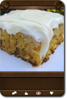 Pineapple Sheet Cake with Cream Cheese Frosting!!  A Moist & Rich Old Southern Recipe...This Cake is SUPER Yummy!!