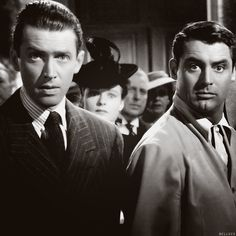 James Stewart and Cary Grant - The Philadelphia Story - Great movie. Stewart took best actor, Grant was snubbed again (Grant never won an oscar- just liketime achievement)