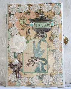 Dream memory keepsake box Featuring Graphic 45 Once Upon a Spring time line by DT Member Carla Oliveira