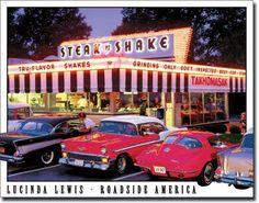 Diner shake tin, memori, metal tin, steaks, restrauntssteak, tin sign, shake metal, metal sign, diner