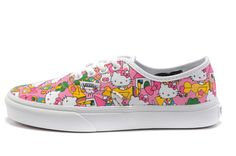 van shoe, hello kitti, skate shoes, canva white, authent shoe
