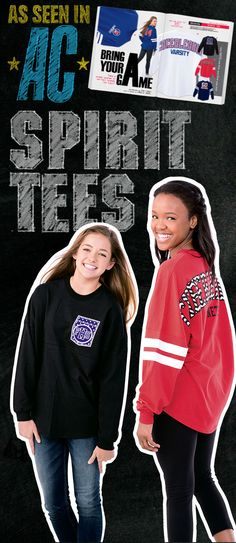 You've seen it in the magazine, now it's time to make this look your own! Rock your game day style with Varsity Spirit Tees! Call your local Varsity Rep to order today. Find your rep here: http://www.varsity.com/uniforms/RepFinder?utm_source=Uniforms&utm_medium=Website&utm_campaign=RepFinder