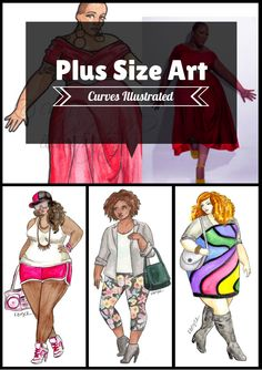 the Gift of Commissioned Plus Size Art with Curves Illustrated