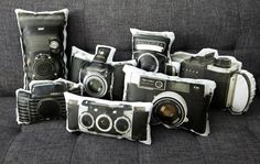 studio, living rooms, couch, offic, vintage cameras