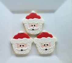 From cupcake to Santa..pinned from sugartreecookies