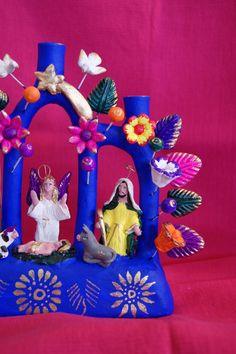 Metepec Nativity Tree of LIfe, Mexican folk art