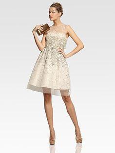 Alice + Olivia  Darcy Lace Layover Dress