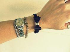 Wobisobi: Leather Bow Bracelet, DIY