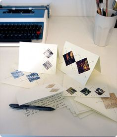 Stationary- This DIY stationary uses magazine clippings.  When I was a teen I used to cut images I liked or of things I wanted and glue them in journals or paste them on posters.  This seems like a hipper, more adult version!