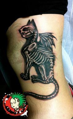 black-cat-wings-skeleton-tattoo.jpg (325×525) tattoo idea, pierc, cat skeleton, black cats, cat tattoos, cat wing, skeleton tattoo, cat shit, ink