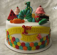 Hungry Caterpillar Birthday Cake