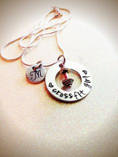Hand Stamped Custom Crossfit Girl necklace by GabbieGoodies, $15.00
