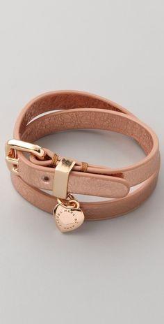 Marc by Marc Jacobs Love Edge Leather Wrap Bracelet