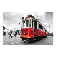 Tram photography  istanbul photography Red Tram by gonulk on Etsy  #HomeDecor #WallDecor #WallArt #wallartprints #roomdecor #etsy #sale #etsyfind
