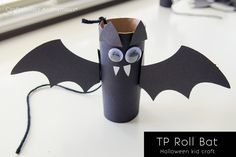 Toilet paper roll bat #halloween #kid #craft
