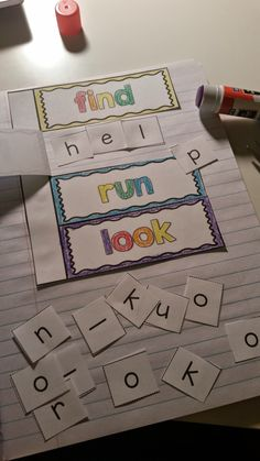 Sight Word Interactive Notebooks